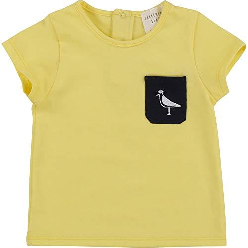 CARREMENT BEAU T-Shirt en Coton Poche brodée Bebe Couche Funny 18MOIS