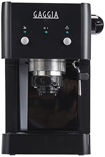 Gaggia GG2016 Macchina da Caffè Espresso Manuale, 1025 W, 1L, Nero