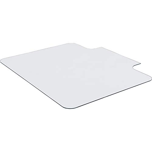 Lorell, LLR82836, Glass Chairmat with Lip, 1 Each, Clear