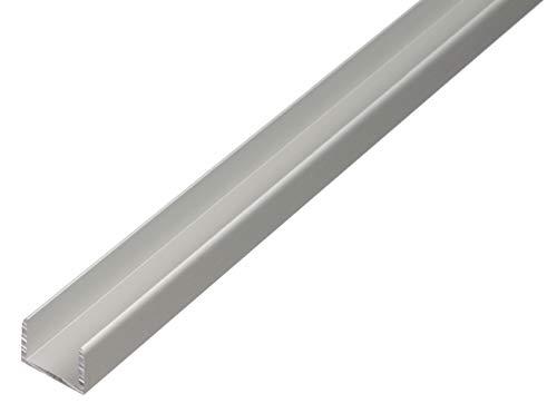 GAH-Alberts 30104 U-Profil | selbstklemmend | Aluminium, silberfarbig eloxiert | 1000 x 8,9 x 10 mm