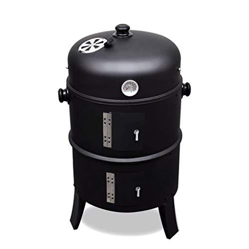 vidaXL Barbecue Griglia Verticale a Carbone e Legna BBQ Smoker Affumicatore