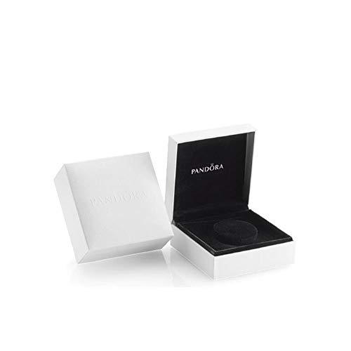 Pandora Unisex-Schmuckkasten Schmuckbox weiß, Innenfutter weiß, 9,0 x 9,0 x 4,0 cm, Leder weiß