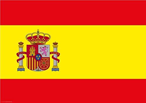 Tischsets   Platzsets - Spanien Flagge - 10 Stück - hochwertige Tischdekoration 44 x 32 cm für spanische Feiern, Mottopartys & Fanabende