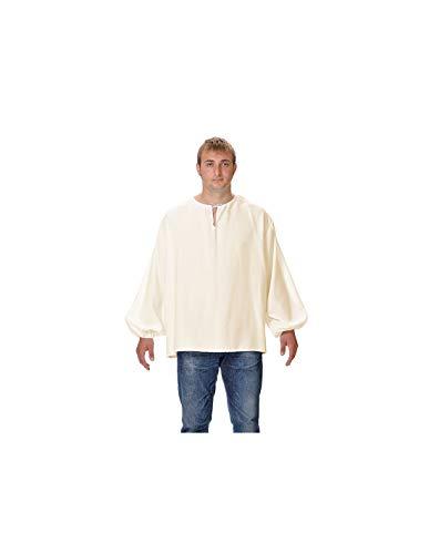 DISBACANAL Camisas Medievales de mesonero - Beige, Adulto