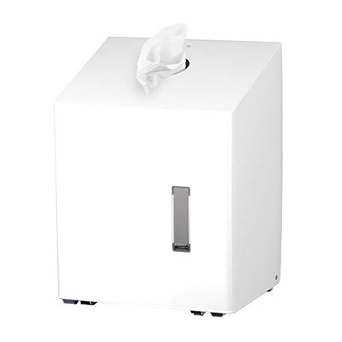 OPHARDT Hygiene 1417188 SanTRAL TCU 1 P Weißer Papierhandtuchspender für Papierrollen, Edelstahl gebürstet