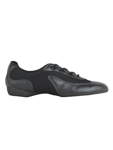 So Danca DK30 Dancesneaker Tanzschuhe Hip Lindy Hop Gymnastik Sport Fitness Trainings Hallen Aerobic Yoga Schuhe, Black/Black, 40