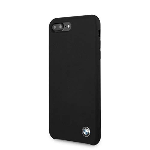 BMW Carcasa de Silicona Negra para iPhone 6 Plus, 6S Plus, 7 Plus y 8 Plus