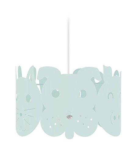 Tosel 17341 Suspension 1 Lumière, Acier, E27, 40 W, Blanc, 30 x 90 cm
