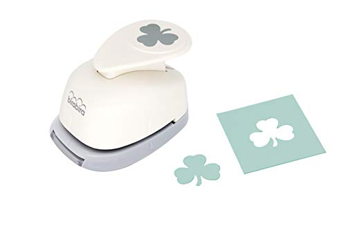 Bira Craft 1 inch Shamrock 1 Lever Action Craft Punch, St. Patrick's Day Punch, for Paper Crafting Scrapbooking
