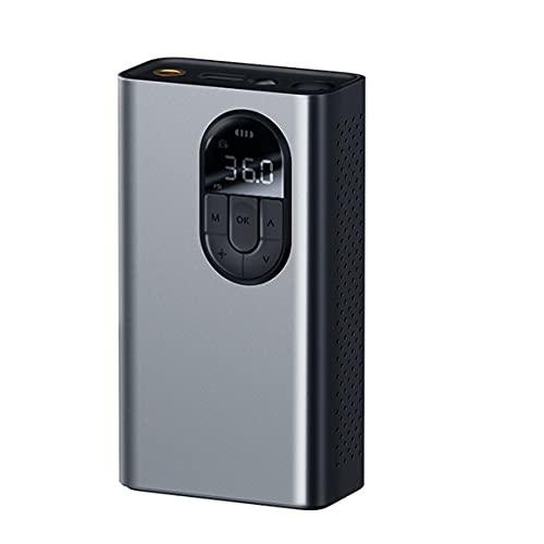 KoelrMsd Bomba infladora de compresor de Aire para Coche con lámpara LED para Coche, Motocicleta, Bicicleta, neumático, Bomba de Aire eléctrica inalámbrica Inflable