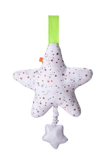 kikadu Spieluhr Stern 28 x 19 cm waschbar mit wasserfesten Spielwerk GOTS zertifiziert Bio-Baumwolle unisex ab Geburt NEU