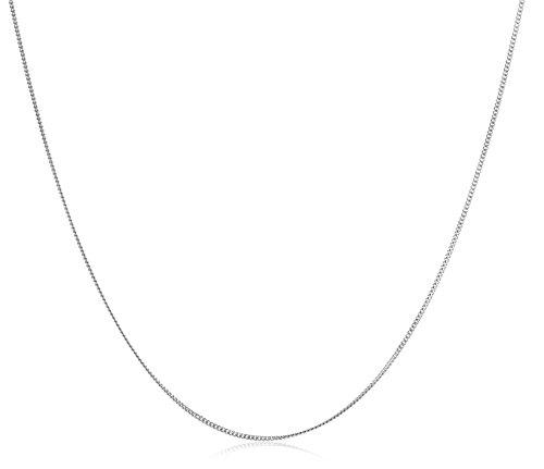 Miore Cadena de mujer con oro blanco 9k, 45 cm