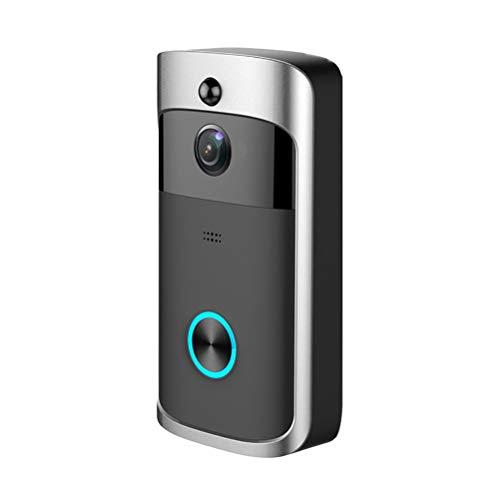 N   A Videoportero automático con sistema de intercomunicación, cámara para casa familiar, botón táctil, visión nocturna, compatible con instantáneas automáticas, color negro