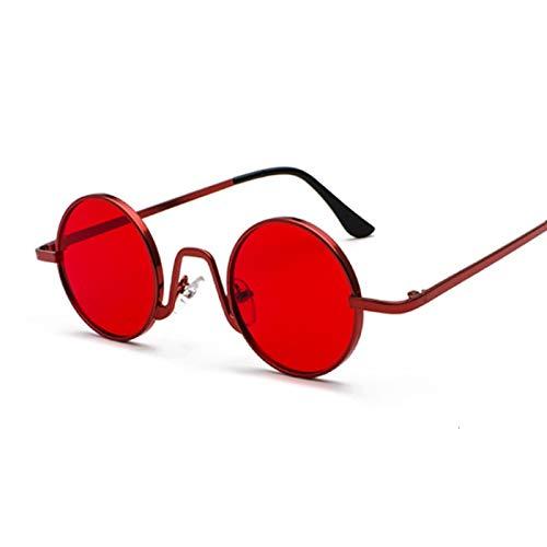 NJJX Gafas De Sol Redondas Vintage Para Mujer, Hombre, Gradiente De Color Caramelo, Gafas De Sol Para Mujer, Hombre, Gafas Al Aire Libre, Rojo Para Fiesta
