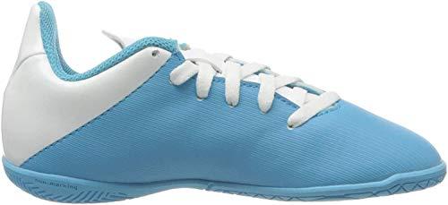 Adidas X 19.4 IN J, Botas de fútbol Unisex niño, Multicolor (Bright Cyan/Core Black/Shock Pink 000), 31 EU