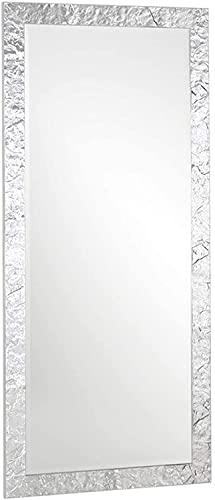 MO.WA Miroir Grand Miroir mural avec Cadre en Bois cm. 85x185 Feuille Argent. Vertical et Horizontal. Fabriqué en Italie