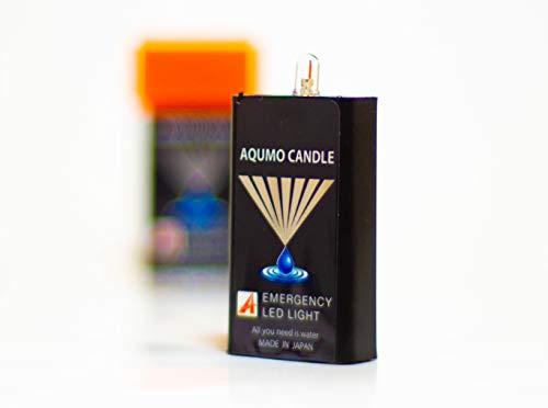 アクモキャンドル 4個セット 水に浸けると光るLEDライト 防災用灯