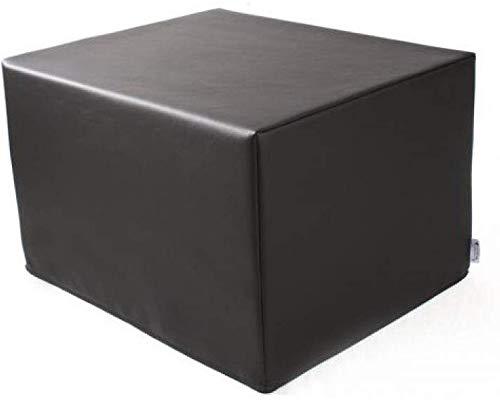 SW Bedding Stufenlagerungswürfel mit Bezug Kunstleder Standard schwarz