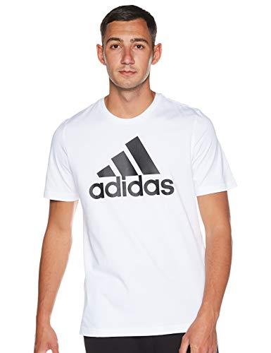 adidas M Bl Sj T Maglietta da Uomo, Uomo, Maglietta, GK9121, Bianco/Nero, S