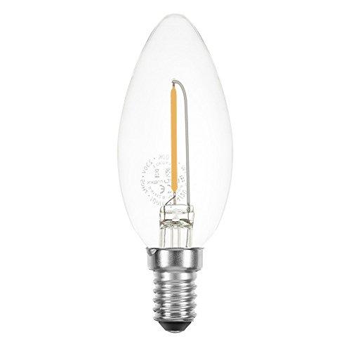 Bougie LED Filament 1 W près de 15 W E14 clair 100lm Rétro Extra Blanc Chaud 2200 K, E14, 1.00W, 230.00V