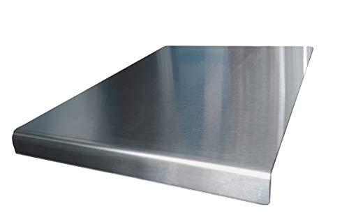 Avonstar Trading Co. Ltd Planche à découper en inox pour plan de travail Bouts arrondis Pieds antidérapants 50 x 50 cm