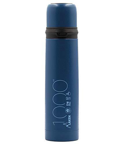 Laken 1L Azul Termo de Acero Inoxidable con Tapón-Vaso, Adultos Unisex