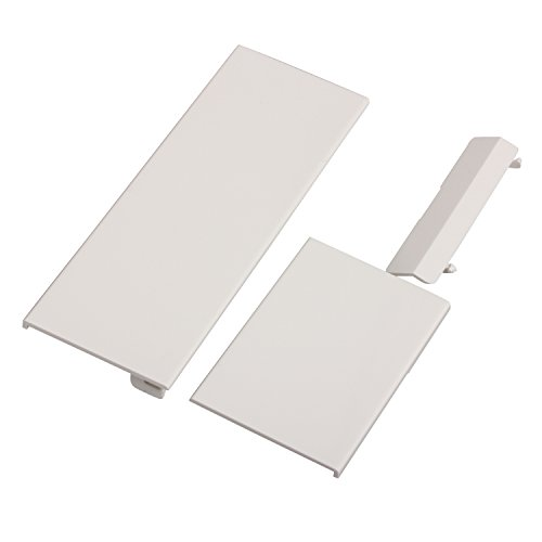Timorn Suitable for Wii White Replacement Door, Replacement Repair Door for Wii Console Parts (1 Set White)
