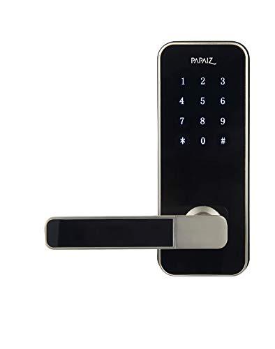 Fechadura Digital Papaiz Smart Lock Prata Esquerda