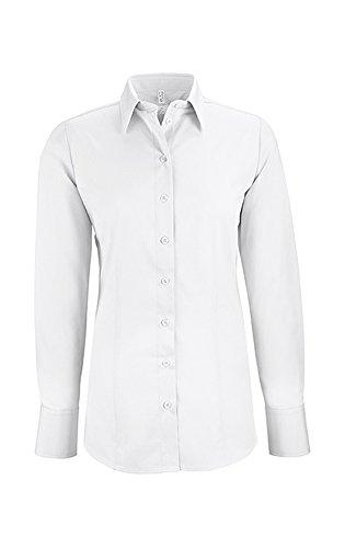 GREIFF Damen-Bluse Basic, Regular Fit, Stretch, Easy-Care, 6515, Farbe: Weiß, Größe: 42