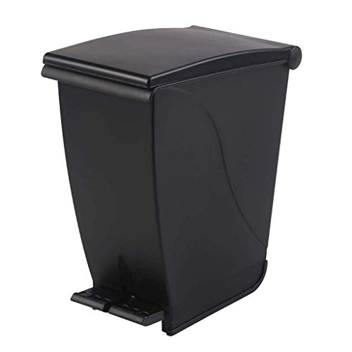 WSZJJ Plastic Step Trash Can with Odor Protection of The Lid (Size : Small)