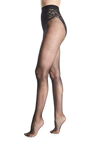 Donna Karan Women's Lace Control Top, Black, Medium