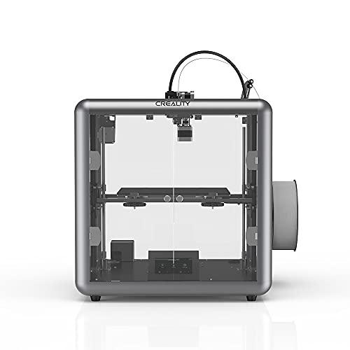 ASPZQ Sermoon D1 FDM 3D Printer Fully Enclosed Silent mainboard All-metal extrusion 3D Printer Transparent Design Smart sensor (Size : 110-120V)
