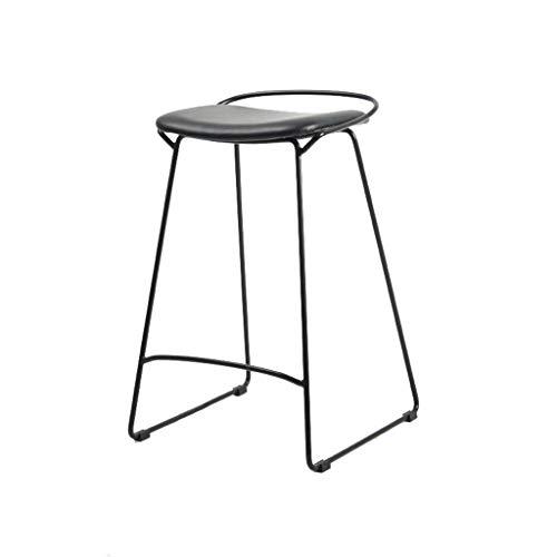 WYBW Taburetes de bar café, taburete de bar, hierro forjado, acero minimalista, taburete de comedor para restaurante, taburete de bar, taburete delantero, taburete alto, salón de negocios, taburete d