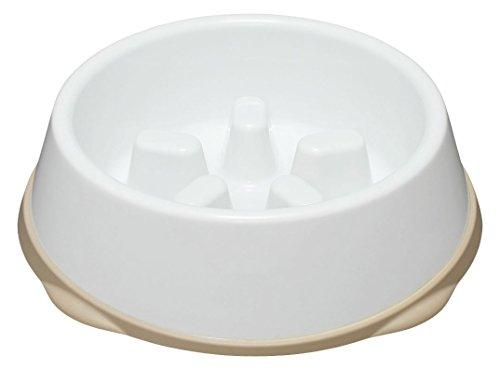 アイリスオーヤマ 早食い防止食器 Mサイズ でこぼこが低いタイプ ホワイト/ベージュ
