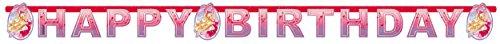 amscan - 552391 - Guirlande Happy Birthday Barbie Chausseurs - Rose - - 180 x 15 cm