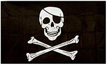 Vlag doodskop piraat 90 x 150 cm