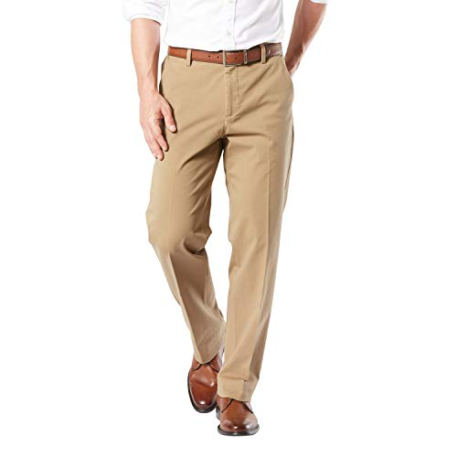 Dockers Men's Workday Smart 360 Flex Pants, New British Khaki, 40W x 36L