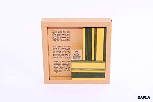 KAPLA JL+JP Holzplättchen, 40er Box, 20 gelb und 20 grün + Buch - 2