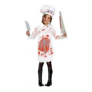 Partilandia Disfraz Zombie Cocinera para niña(4-6 años): Amazon.es ...