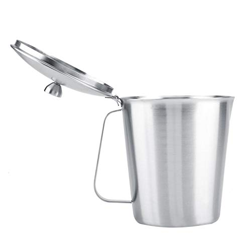 Latte Art Cup, jarra de leche duradera, accesorio profesional para café con tapa y medida para el hogar(1500ML)