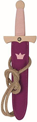 Süßes Prinzessinnen Dolch-Set - Princess, 35cm Länge aus Buche-Echtholz [Inkl. Dolch-Scheide aus Wollfilz   Viele Details  Made in Germany]