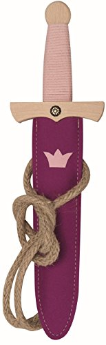 Spielzeugmanufaktur VAH - Espada de Juguete para nias con Funda, Material de Madera, 35 cm (841)