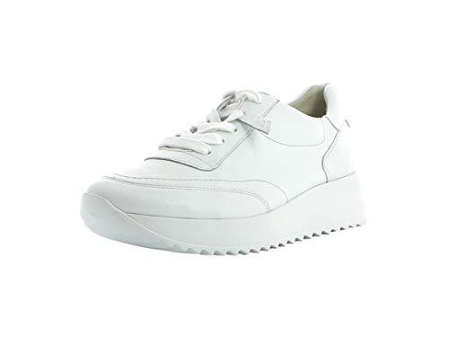 Paul Green Damen Sneaker 4946, Frauen Low-Top Sneaker, Halbschuh strassenschuh schnürer schnürschuh sportschuh Plateau-Sohle,White,37 EU / 4 UK