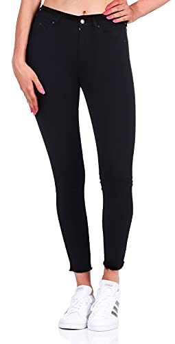 Only Onlblush Mid SK Ank Rawjns Rea2343 Noos Jeans Skinny, Nero (Black Denim), W33/L34 (Taglia Produttore: X-Large) Donna