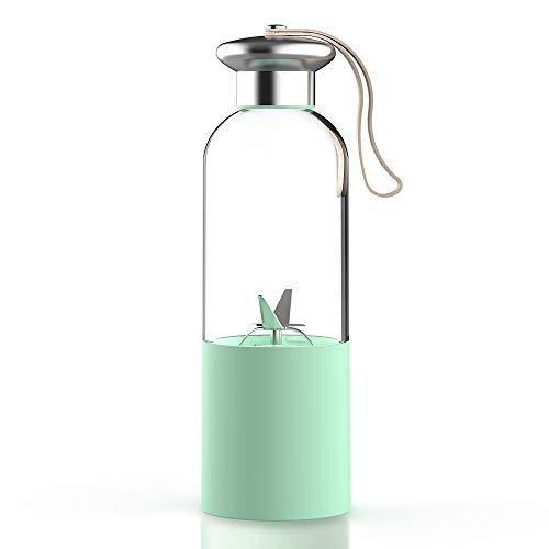 Walmeck Draagbare mini Lightweight USB oplaadbare cupvorm juicer vruchtenpers mixer set voor shakes smoothies met 3000 mAh accu