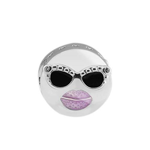 LILANG Pulsera de joyería 925 Pandora Plata de Ley Real Natural Stay Cool Charm Beads para Hacer los Regalos Originales de Argent Perle DIY para Mujeres