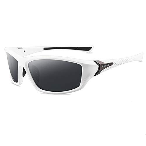 Grainas Polarisierte Sportbrille Sonnenbrille für Herren Damen Fahrerbrille Radsportbrillen zum Radfahren Skifahren Autofahren Fischen Laufen Wandern UV400 Schutz (Weiß)