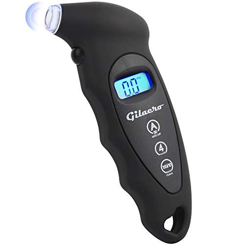 Gilaero Digital Tire Pressure Gauge 150 PSI 4 Settings for Car Truck...