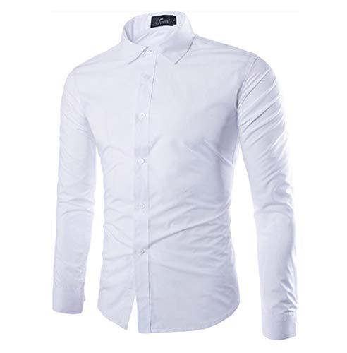 Herren Funky Floral Checked Shirt Lässiges Langarmhemd Button Langarmhemden Printed T-Shirt Kariertes Einfarbiges Hemd,XXL