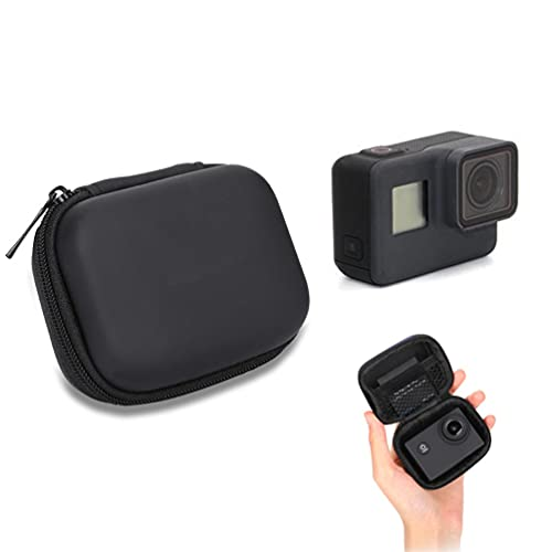 Für GoPro Tasche, Schutz Mini Aufbewahrungstasche für GoPro Hero 8 7 6 5 4 3 2018 Session Tragbares Reisen PU Leder wasserdichte Schwarz Tasche für GoPro Zubehör